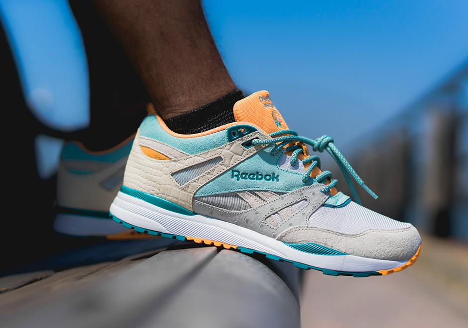 Packer Shoes x Reebok has a real Miami Dolphins feel to it.